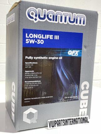 Quantum Long Life III 5W-30 Engine Oil 5 Litres Cube Fully Synthetic OEM New VW Audi Seat Skoda
