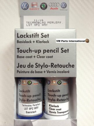 Techno Blue LW5Y Genuine VW Touch Up Paint Audi Seat Skoda Scratch Stone Chip Repair