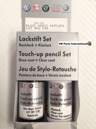 Black Magic LC9Z Genuine VW Touch Up Paint Audi Seat Skoda Scratch Chip Repair