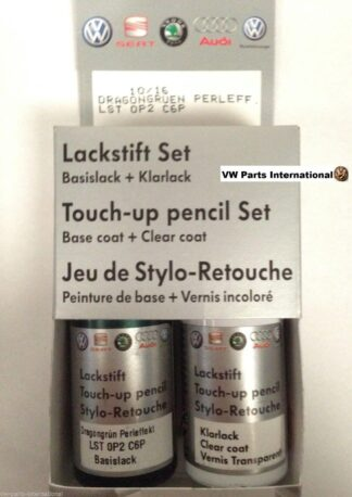 Dragon Green LC6P Genuine VW Touch Up Paint Audi Seat Skoda Scratch Chip