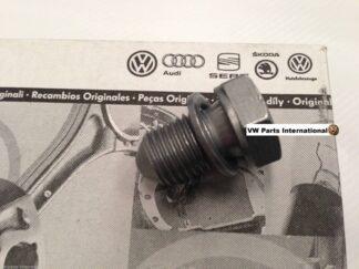 VW Audi Seat Skoda Oil Sump Pan Plug Bolt and Washer Genuine OEM VW Part R R32 S3 RS4 VRs ST SC