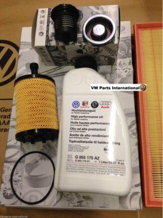 VW Golf MK5 R32 Service Kit Haldex Oil Filter + Haldex Oil + Engine Air Filter+ Engine Oil Filter Genuine OEM VW Parts