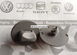 Genuine Grey Oval Floor Mat Carpet Screw in Clips Original VW Audi OEM Parts