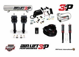 VW Golf MK3 GTI VR6 Air Lift Performance 3P 1/4″ Management + Slam Series Kit 6″ Drop