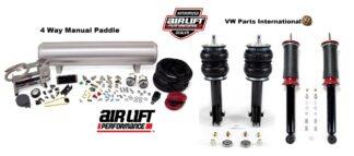VW Golf MK3 GTI VR6 Air Lift Front & Rear Slam Kit Air Ride 4 Way Paddle Control