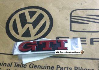 VW GOLF MK3 GTI Rear Red GTI Logo Badge Genuine New OEM VW Parts