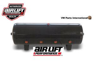 Air Lift Performance 8.5 Gallon Gloss Black Powder Coated Air Tank 12.5 H x 32.5 with 8x 12 Ports