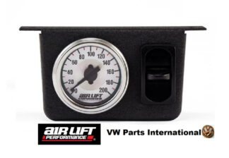 Single Needle Gauge Panel with one paddle switch 200 PSI -Air Lift Performance