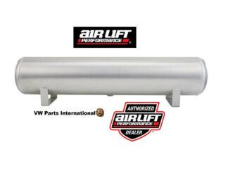 """Air Lift Performance 4 Gallon Aluminium Air Tank 1/4""""& 3/8"""" End Ports & 1/4"""" Drain 30""""x6"""""""