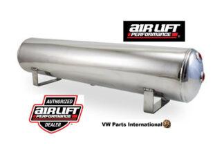 """Air Lift Performance 4 Gallon Polished Aluminium Air Tank 1/4""""& 3/8"""" End Ports 30""""x6"""""""