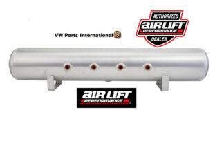 """Air Lift Performance 5 Gallon Aluminium Air Tank 4x 3/8"""" Face Ports & 1/4"""" Drain Port 36""""x6"""""""