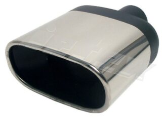 Pair Jetex Stainless Steel Exhaust Tips Flat oval tailpipe [BOLD 76] 3 inch - u267600
