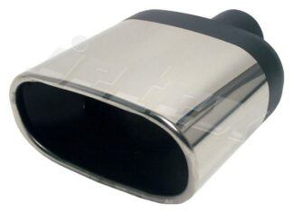 Pair Jetex Stainless Steel Exhaust Tips Flat Oval tailpipe [BOLD 51] 2 inch - u265100
