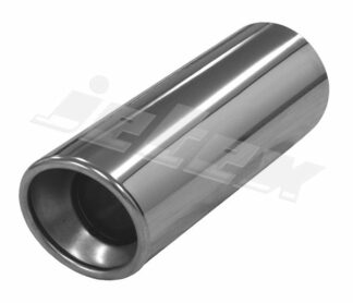 Pair Jetex Stainless Steel Exhaust Tips Round weldable tailpipe [SINGLE RONDO] Dia=100mm. L=300mm - u166310