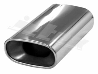 Pair Jetex Stainless Steel Exhaust Tips Flat large oval weldable tailpipe SINGLE - u166301