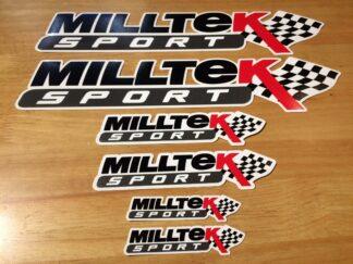 Official Milltek Sport Decal Sticker Pack Black