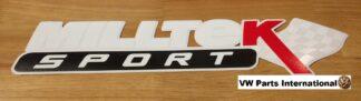 Official Milltek Sport Decal Sticker 1x large 380mm White