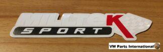 Official Milltek Sport Decal Sticker 1x medium 180mm White