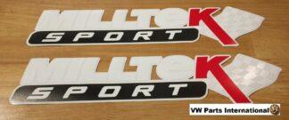 Official Milltek Sport Decal Sticker 2x large 380mm White