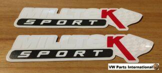 Official Milltek Sport Decal Sticker 2x medium 180mm White