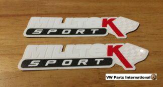 Official Milltek Sport Decal Sticker 2x small 100mm White