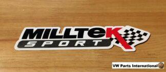 Official Milltek Sport Decal Sticker 1x medium 180mm Black