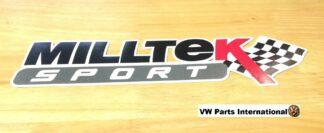 Official Milltek Sport Decal Sticker 1x large 380mm Black VW Audi Seat Skoda R R32 TSI TFSI TDI