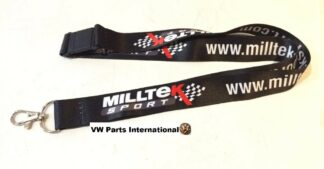 Genuine Milltek Sport Exhaust Lanyard VW Audi Seat Skoda Golf Scirocco R R32 TTS S3 S4 RS4 RS6 RS7