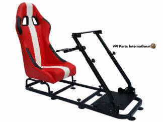 Gaming Racing Simulator Frame Chair Bucket Seat For Virtual Reality Game PC PS3 PS4 XBox (Red White)