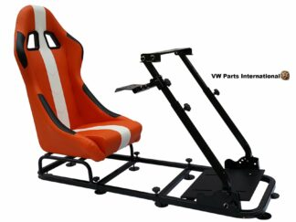 Gaming Racing Simulator Frame Chair Bucket Seat For Virtual Reality Game PC PS3 PS4 X Box (Orange White)