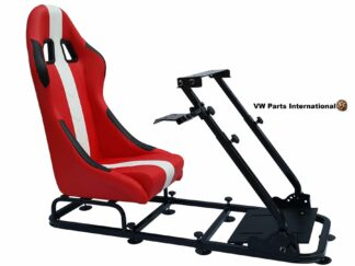 Gaming Racing Simulator Frame Chair Bucket Seat For Virtual Reality Game PC PS3 PS4 X Box (Red White)