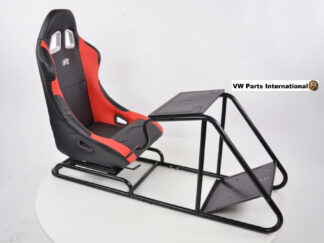 Gaming Racing Simulator Frame Chair Bucket Seat For Virtual Reality Game PC PS3 PS4 X Box (Black Red) Leatherette