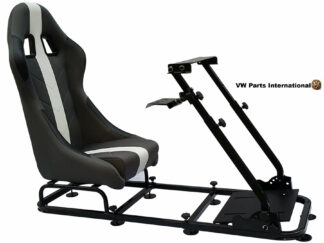 Gaming Racing Simulator Frame Chair Bucket Seat For Virtual Reality Game PC PS3 PS4 X Box (Grey White)