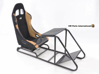 Gaming Racing Simulator Frame Chair Bucket Seat For Virtual Reality Game PC PS3 X Box (Black Beige)