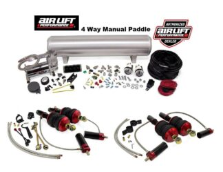 Audi R8 Quattro Spyder GT Plus V10 Air Lift Performance 4 Way Manual Paddle Management + Front & Rear Air Suspension Struts Bags Kit