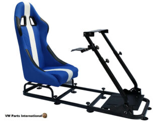 Gaming Racing Simulator Frame Chair Bucket Seat For Virtual Reality Game PC PS3 PS4 X Box (BlueWhite)