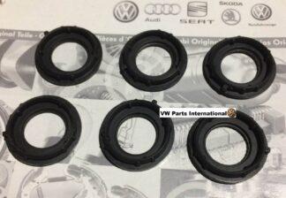 VW Golf MK4 R32 Camshaft Cover 6 Gasket Seals Spark Plug Coil Wells O' Ring Genuine New OEM VW Part