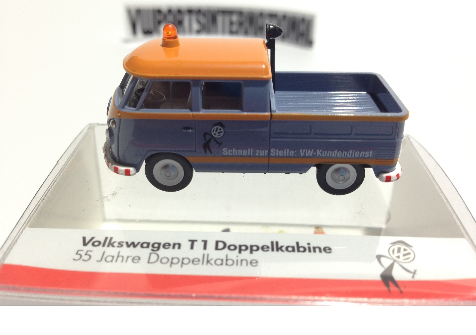 Volkswagen Splitty Split Screen Double Cab Pick Up T1 187 Scale Model Toy Christmas Gift Present Xmas Stocking Filler
