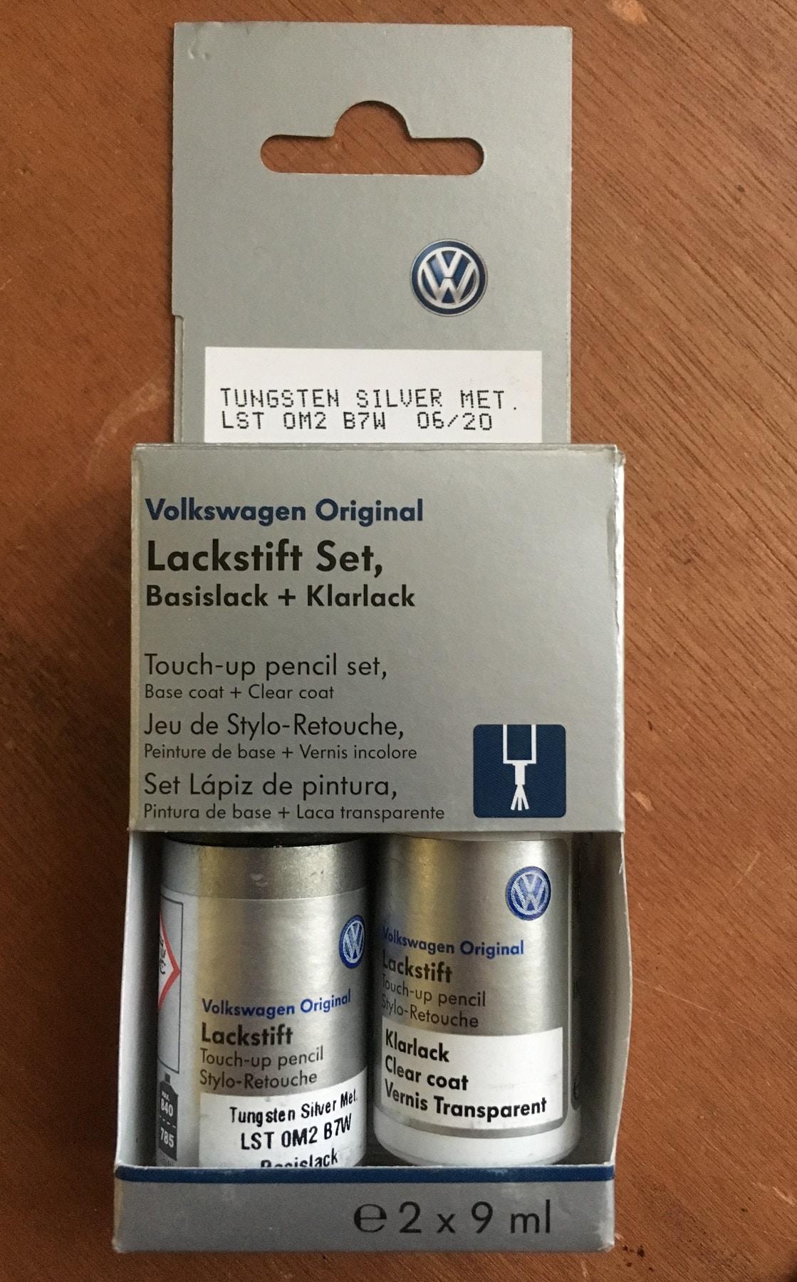 Tungsten Silver LB7W Genuine VW Touch Up Paint Audi Seat Skoda Scratch Stone Chip Repair