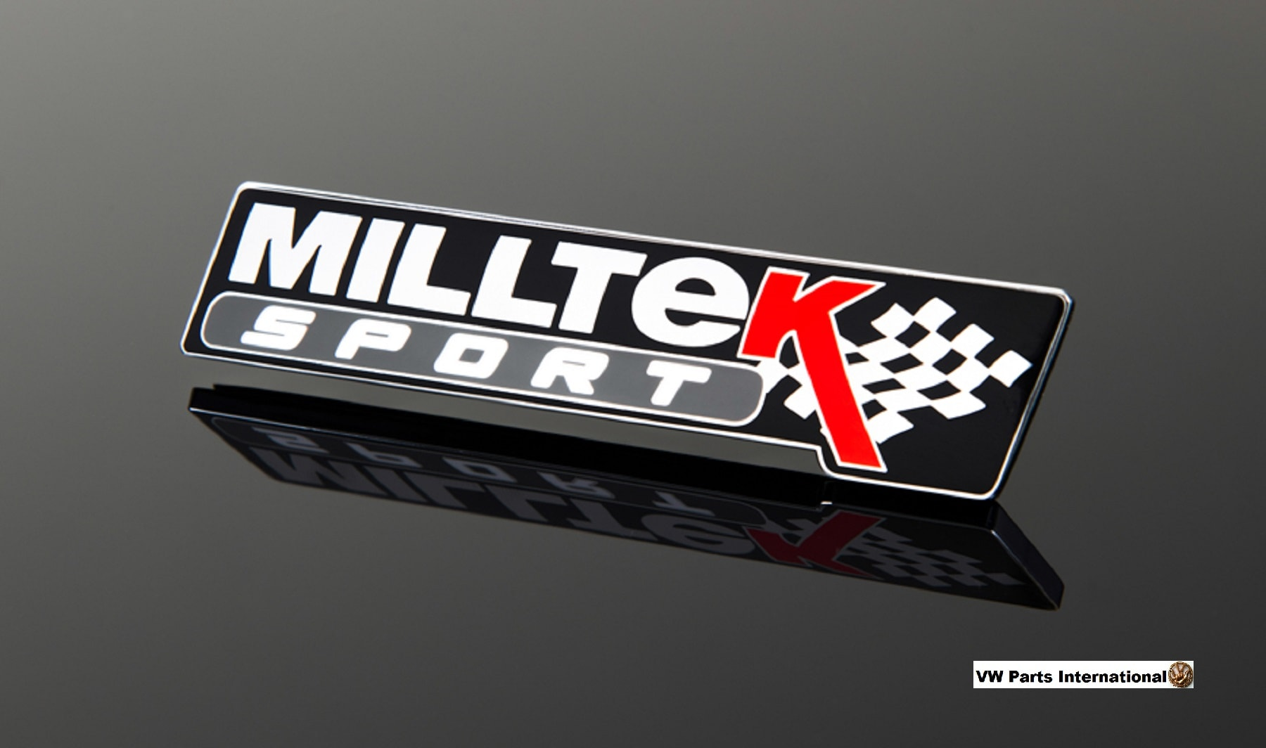 Official Milltek Sport Metal Badge 'Black Special Edition' Emblem Plaque VW Audi Seat Skoda R R32 TSI TFSI TDI