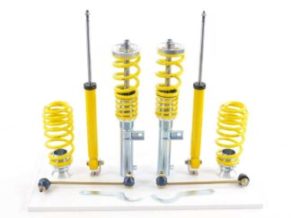 VW Golf MK6 1K 4mo FK Coilovers Suspension Kit Height + Damping Adjustable 2008> with 50 mm strut
