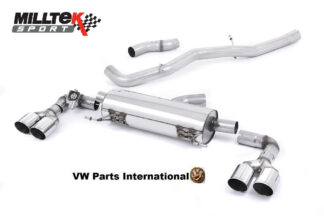 Audi S1 2.0 TFSI Quattro Milltek Sport Non Resonated Cat Back Exhaust System Quad Polished Round Tips SSXAU492