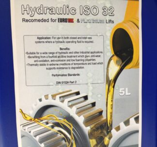 Hydraulic Oil 2x 5L for EuroTek & Platinum 2 Post 4 Post Car Lift Bike Lift Vehicle Lift Garage Workshop Ramp