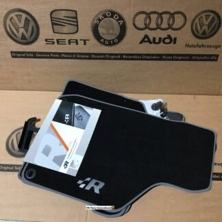 VW Golf MK4 R32 Carpet Floor Mats with Embroidered R Logo for LHD Genuine OEM NOS Parts