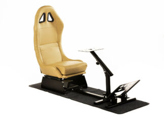 Gaming Racing Simulator Frame Chair Bucket Seat PC PS3 PS4 X Box (Beige) fkrse17913(1)