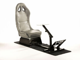 Gaming Racing Simulator Frame Chair Bucket Seat PC PS3 PS4 X Box (Grey) fkrse17917(1)