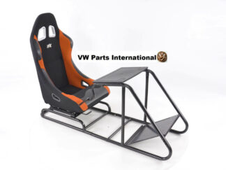 Gaming Racing Simulator Frame Chair Bucket Seat For Virtual Reality Game PC PS3 PS4 X Box (Black Orange) Fabric