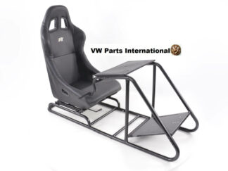 Gaming Racing Simulator Frame Chair Bucket Seat For Virtual Reality Game PC PS3 PS4 X Box (Black) Leatherette