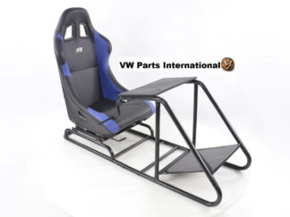 Gaming Racing Simulator Frame Chair Bucket Seat For Virtual Reality Game PC PS3 PS4 X Box (Black Blue) Letherette