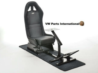 Gaming Racing Simulator Frame Chair Bucket Seat For Virtual Reality Game PC PS3 PS4 X Box (Black) With Carpet